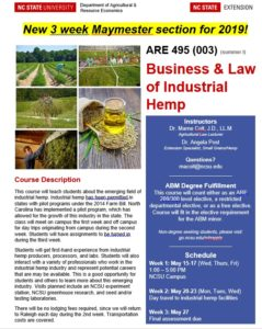 Cover photo for NC State University Offers Hemp Course