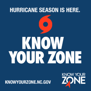 Hurricane Season is Here, Know your Zone