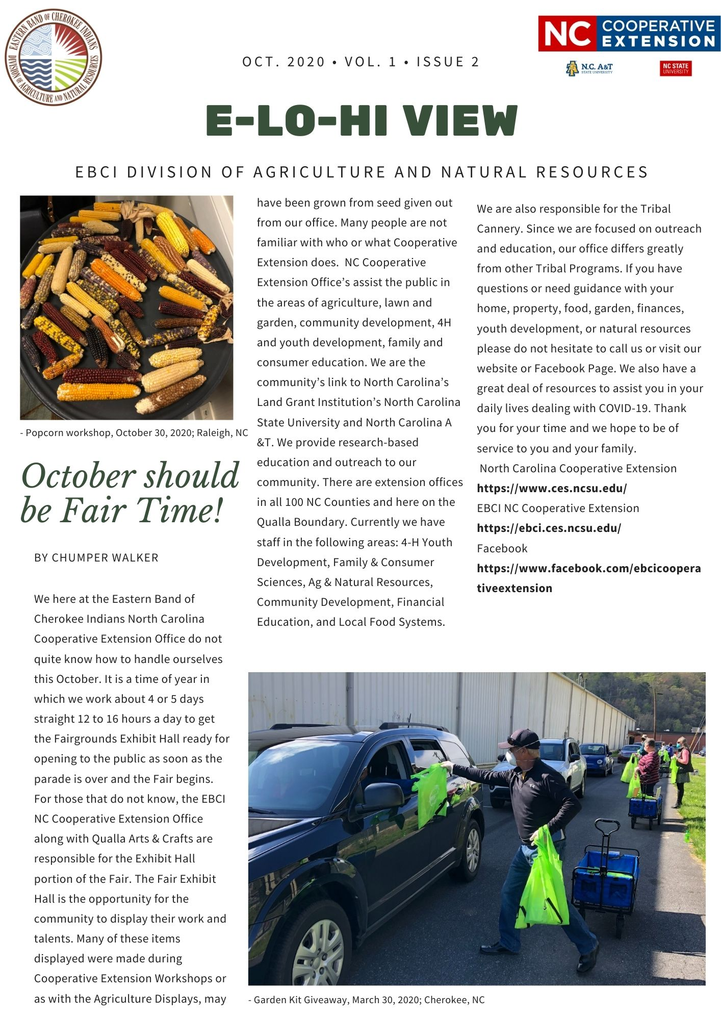 Agriculture and Natural Resources newsletter page 1
