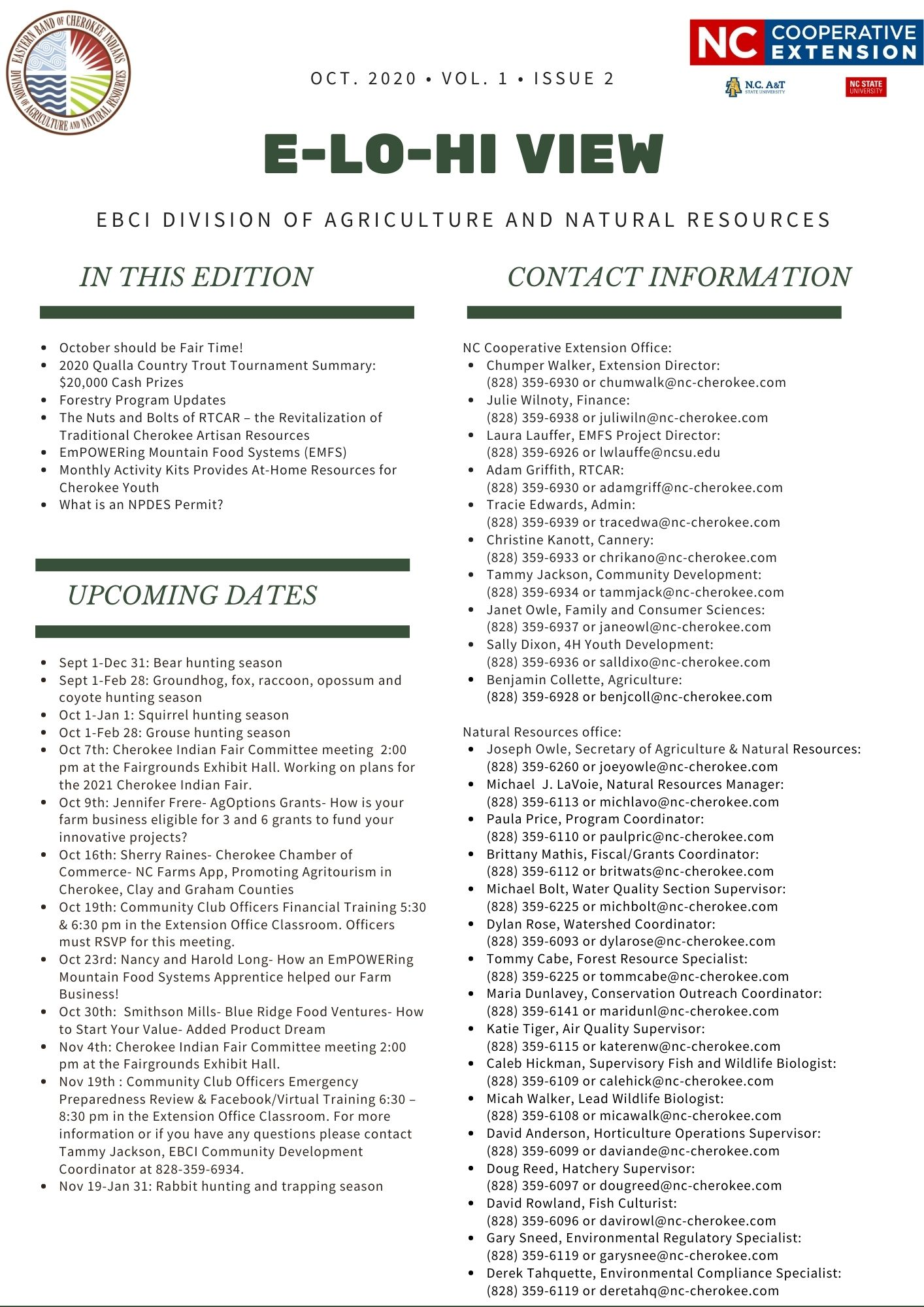 Agriculture and Natural Resources newsletter page 2