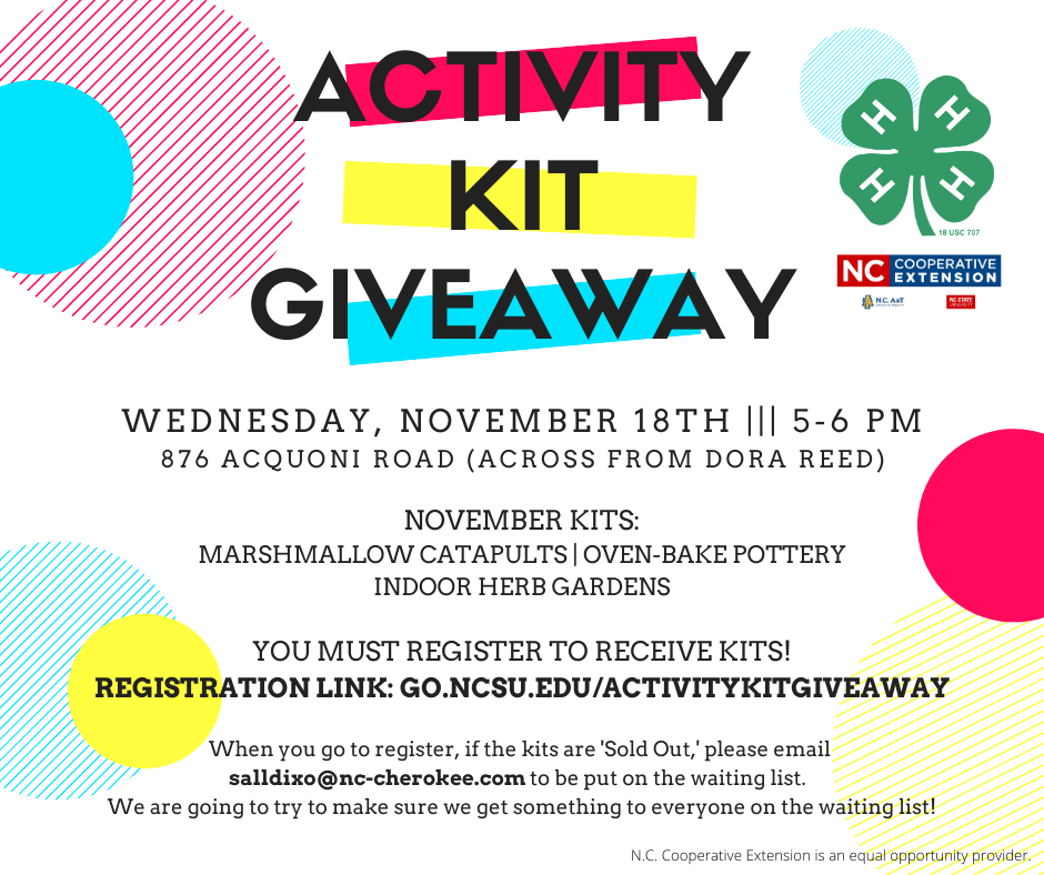 Activity Kit Giveaway flyer