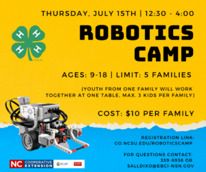 Cover photo for Robotics Camp Happening on July 15!